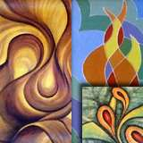 Indian abstract art paintings - Panna Paintings