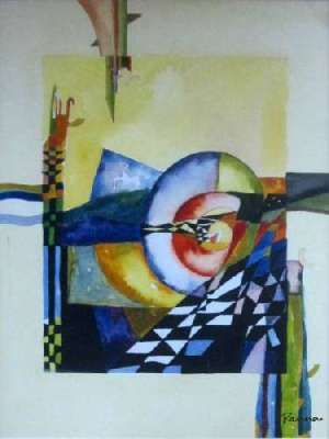 Abstract geometric paintings - Panna Paintings - Chequered Sigma 1