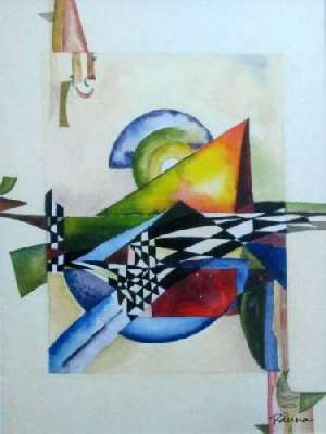 Chequered art - Panna Paintings - Chequered Sigma 3