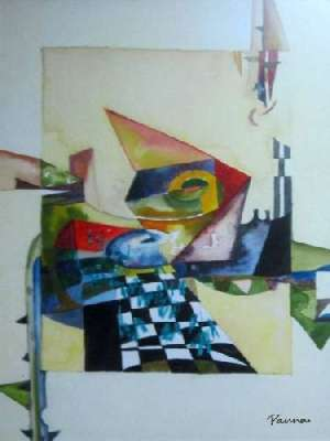Amazing abstract paintings - Panna Paintings - Chequered Sigma 4