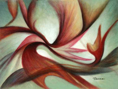 Abstract colorful painting - Desire III - Abstract art by Panna Paintings