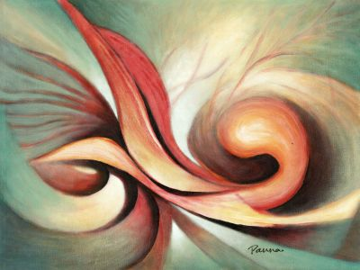 Fine arts abstract paintings - Desire IV - Abstract art by Panna Paintings