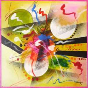 Colourful abstract art paintings - Joy 4 by Panna Paintings