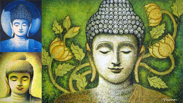 Buddha paintings & attaining nirvana