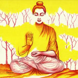 Buddha on nirvana - Buddha 13 - Panna Paintings