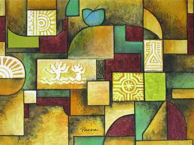 Indian contemporary art paintings - Panna - Contemporary 5