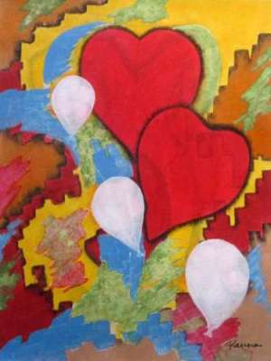 Abstract love paintings - Panna Paintings Exclusive - Be My Valentine