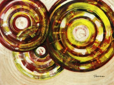 Abstract circle paintings - Exclsuive by Panna Paintings - Circles 1