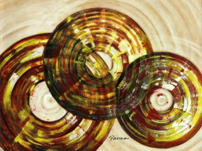 Circle abstract paintings - Exclsuive by Panna Paintings - Circles 2