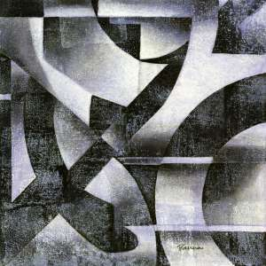 Black and white abstract paintings - Found - Panna Paintings