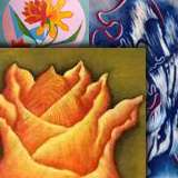 Abstract floral paintings canvas - Panna Paintings