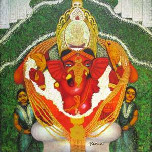 Siddhivinayak ganpati images - Ganesha 5 - Panna Paintings