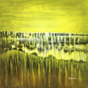 Wilderness landscape paintings - Semi-abstract landscape paintings by Panna - Wilderness 1