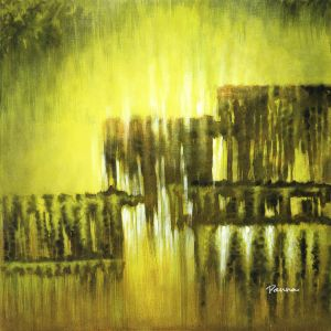 Abstract nature paintings - Semi-abstract landscape paintings by Panna - Wilderness 2
