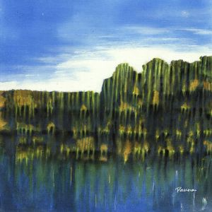 Wilderness abstract art - Semi-abstract landscape paintings by Panna - Wilderness 3