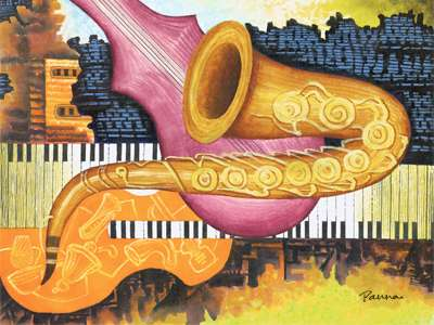Abstract jazz art - Contemporary Jazz - Panna Paintings