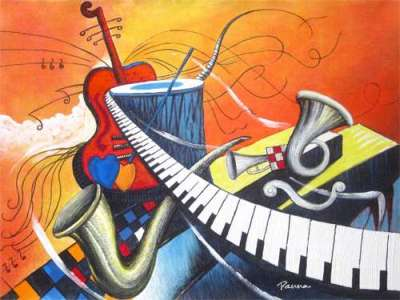 Abstract Music Paintings by Panna - Grand painting fiesta
