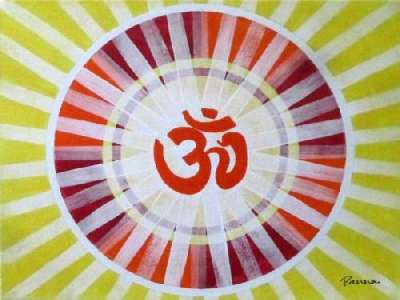 OM painting on canvas - Spiritual by Panna Paintings - OM 02