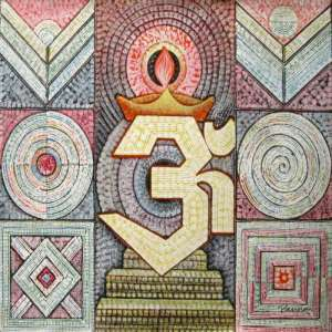 OM abstract paintings - Spiritual by Panna Paintings - OM 04