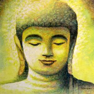 Spiritual by Panna Paintings - painting of Buddha on canvas - Buddha 03