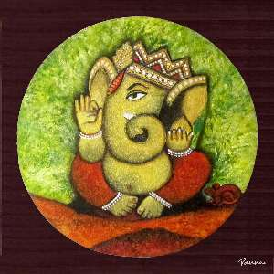 Modern Ganesha paintings - Spiritual by Panna Paintings - Ganesha 01