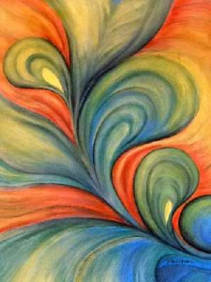 Colourful abstract paintings - Panna Paintings - Twist of Fate 03